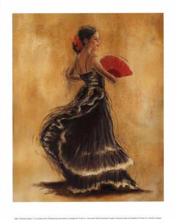 Gold-caroline-flamenco-dancer-ii