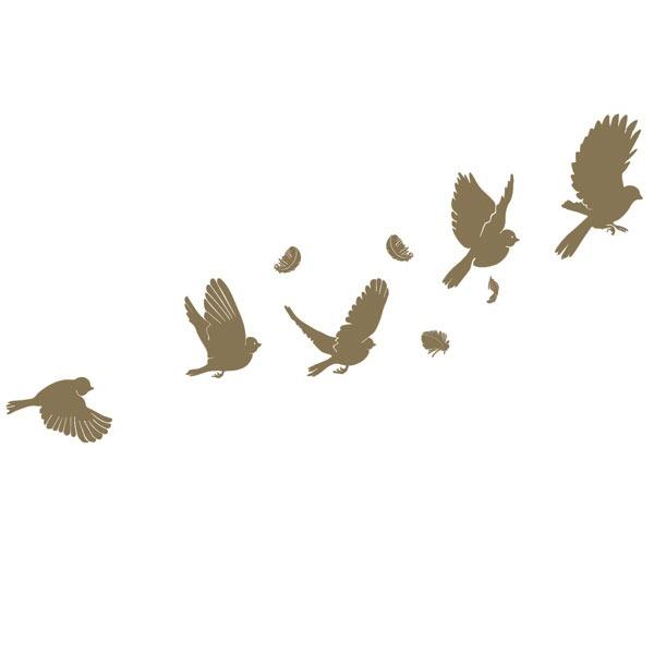 Sticker-grand-envol-d-oiseaux-dores